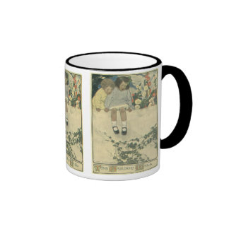 Vintage Children, Garden Wall Jessie Willcox Smith Ringer Mug