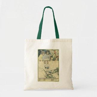 Vintage Children, Garden Wall Jessie Willcox Smith Tote Bag