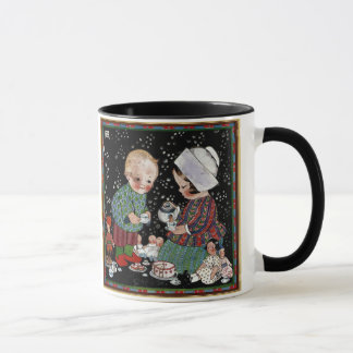 Vintage Children Having a Pretend Tea Party Mug