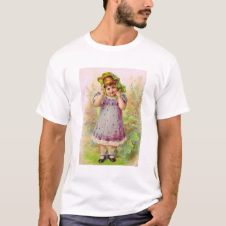 Vintage Children Little Girl Victorian Art T-Shirt