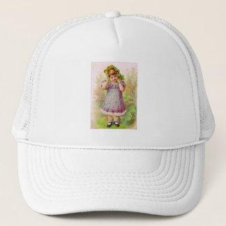 Vintage Children Little Girl Victorian Art Trucker Hat