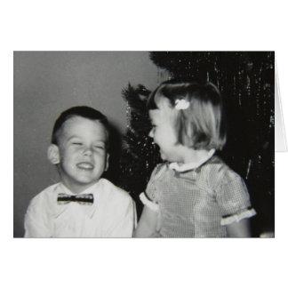 Vintage Children, Merry Christmas Card