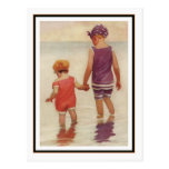 Vintage Children Paddling by Jessie Willcox Smith Postcard
