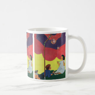 Vintage Children Play Girl and Boy Blowing Bubbles Coffee Mug
