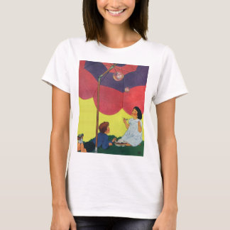 Vintage Children Play Girl and Boy Blowing Bubbles T-Shirt