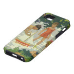 Vintage Children Playing Toy Sailboats Summer Pond iPhone 5 Covers