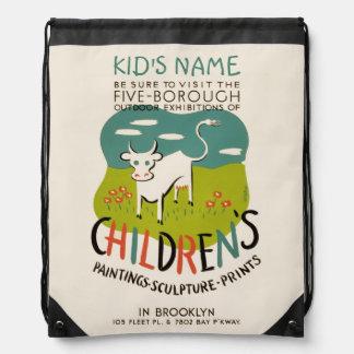 Vintage Children's Art custom bag