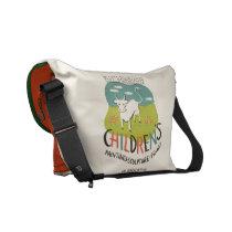 Vintage Children's Art custom messenger bag