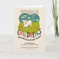 Vintage Children's Art greeting card