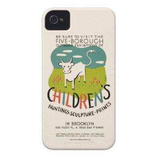 Vintage Children's Art iPhone case