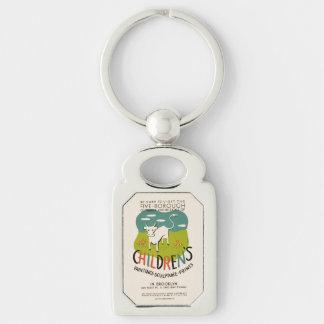 Vintage Children's Art key chain