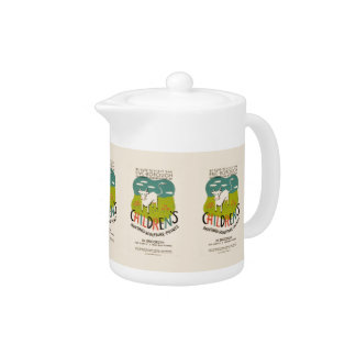 Vintage Children's Art teapot