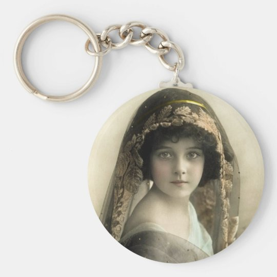 Vintage Children's Portraits Keychain