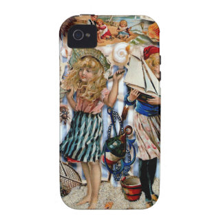 Vintage Children Sea Shells Holiday Boys Girls iPhone 4 Covers