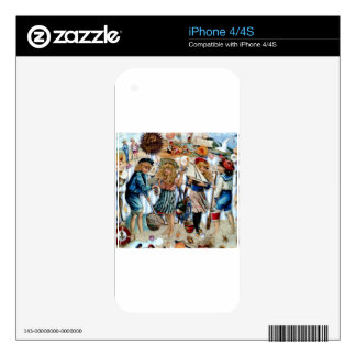 Vintage Children Sea Shells Holiday Boys Girls Decals For The iPhone 4