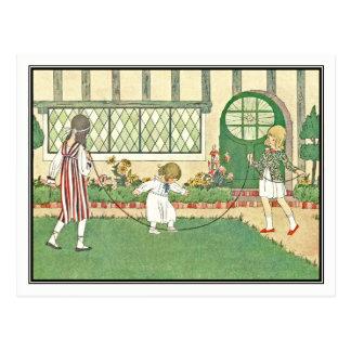 Vintage Children Skipping by H. Willebeek Le Mair Postcard