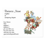 Vintage Children Toddlers Playing with Fire Trucks Business Card Templates