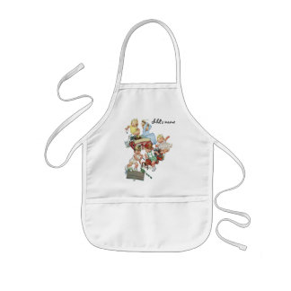Vintage Children Toddlers Playing with Fire Trucks Kids' Apron