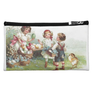 Vintage Children's Holiday Easter Party Bagettes Makeup Bags