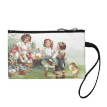 Vintage Children's Holiday Easter Party Bagettes Coin Purse
