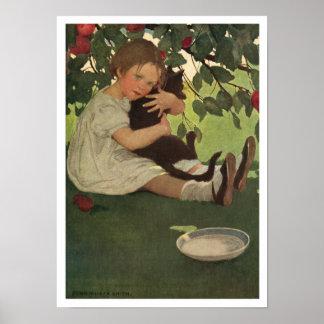 Vintage Children's Illustration Poster or Print