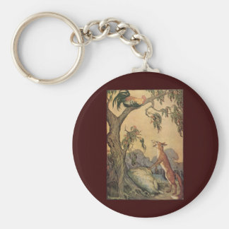Vintage Children's Story Book, Aesop's Fables Keychain