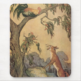 Vintage Children's Story Book, Aesop's Fables Mouse Pad