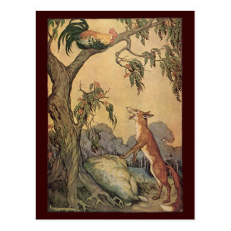 Vintage Children's Story Book, Aesop's Fables Postcard