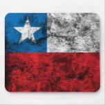 Vintage Chile Flag Mouse Pads