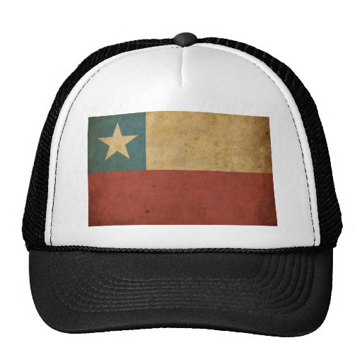 Vintage Chile Flag Trucker Hats