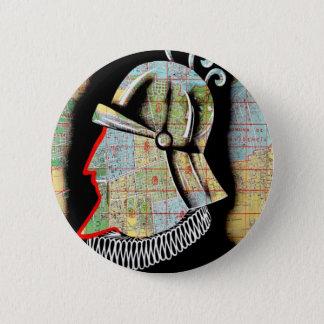 Vintage Chile Santiago Travel Pinback Button