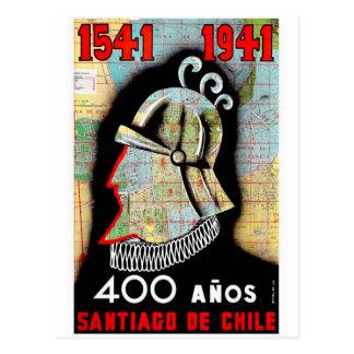 Vintage Chile Santiago Travel Postcard