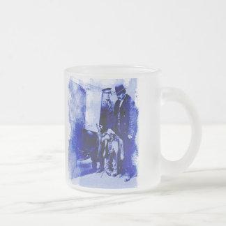 Vintage Chimpanzee Frosted Glass Mug
