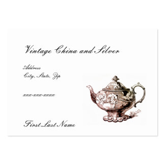 VIntage CHina and Silver Business Cards