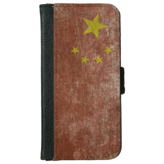 Vintage China Flag iPhone 6/6s Wallet Case
