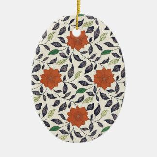 Vintage China Floral Pattern Art Ceramic Ornament
