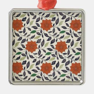 Vintage China Floral Pattern Art Metal Ornament