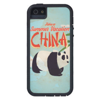 Vintage China Panda Vacation Poster iPhone SE/5/5s Case