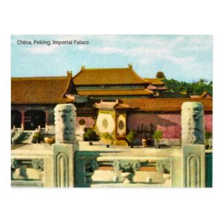 Vintage China Pekín palacio imperial Postal