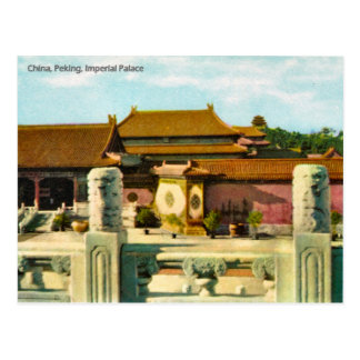 Vintage, China, Pekín, palacio imperial Postal