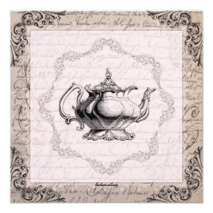 Teapot invitations announcements zazzle vintage china teapot bridal shower tea party card filmwisefo Gallery