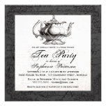 Vintage China Teapot Bridal Shower Tea Party Personalized Invitation
