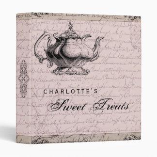 Vintage China Teapot Sweet Treat Recipe Binder