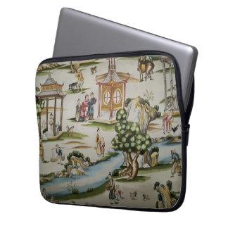 Vintage China Toile Scene Computer Sleeve