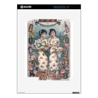 Vintage Chinese Advertising Art iPad 2 Skins