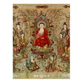 Vintage Chinese Buddhist Fine Art Images Postcard