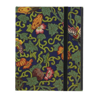 Vintage Chinese Butterflies & Flowers iPad Folio Case