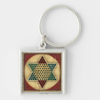 Vintage Chinese Checkerboard by Ethan Harper Keychain