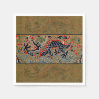 Vintage Chinese Dragon Art Tapestry Artwork Napkin