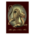 Vintage Chinese Dragon ATC ACEO Large Business Cards (Pack Of 100)